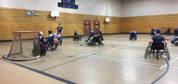 Wheelchair Floor Hockey