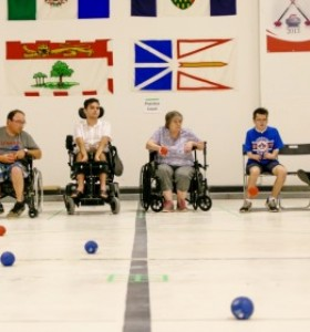 People Playing Boccia